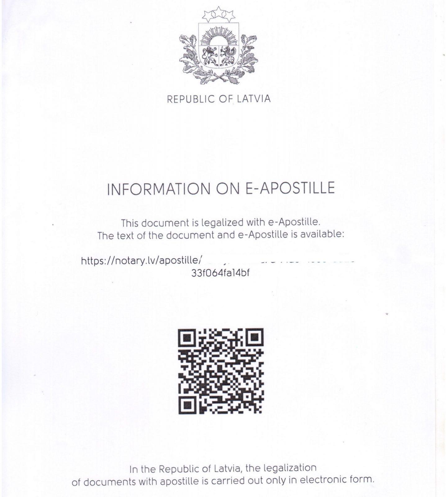 Apostille Latvija