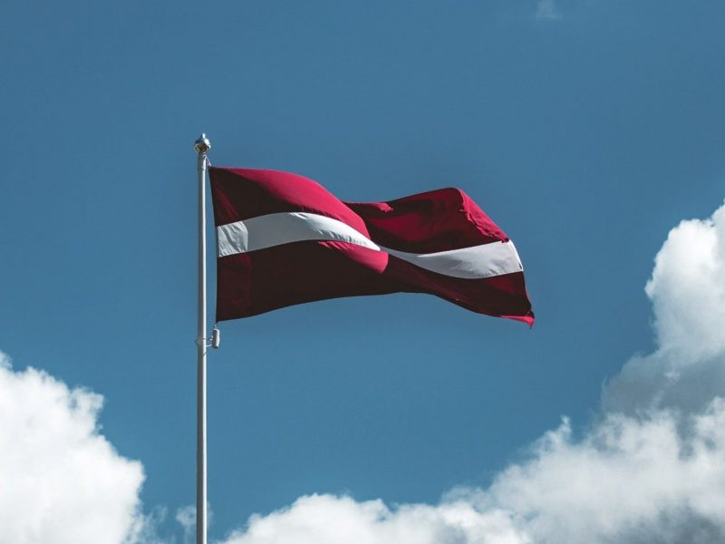Latvian big flag